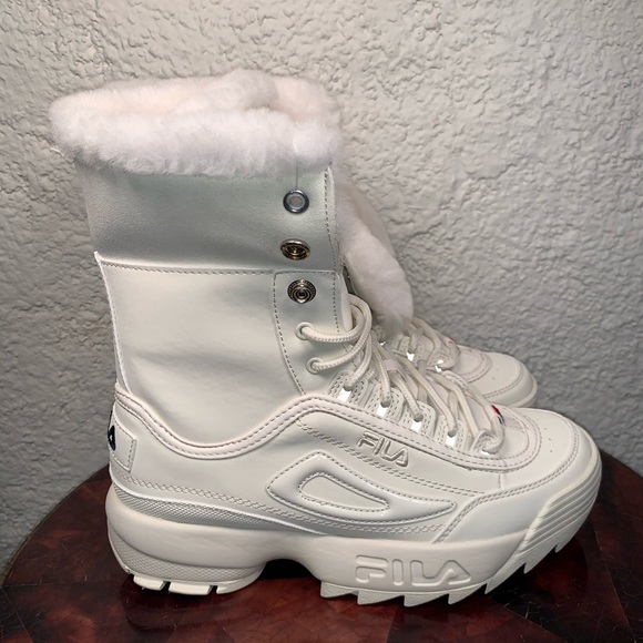 Disruptor Shearling White Snow Boots